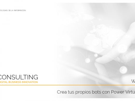 📢 Crea tus propios bots con Power Virtual Agent (7 de junio de 10 a 11)
