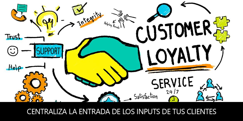 Centraliza la entrada de los inputs de tus clientes para poder ofrecer un mejor servicio (Omnichannel)