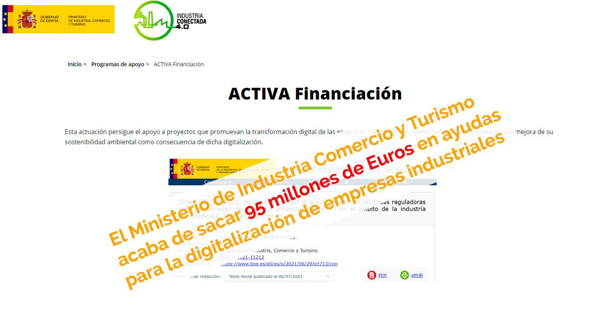 95 millones de euros para digitalización de empresas industriales
